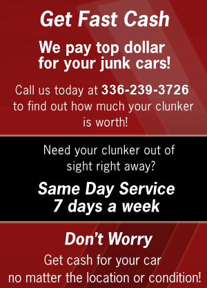 Auto Salvage - Lexington, NC  - Triad Clunkers