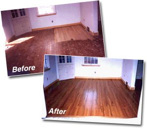 Hardwood Floor   Windom, MN   Ginou0027s Floor Sanding And Refinishing   Before  And After
