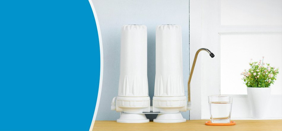 A water filter on kitchen