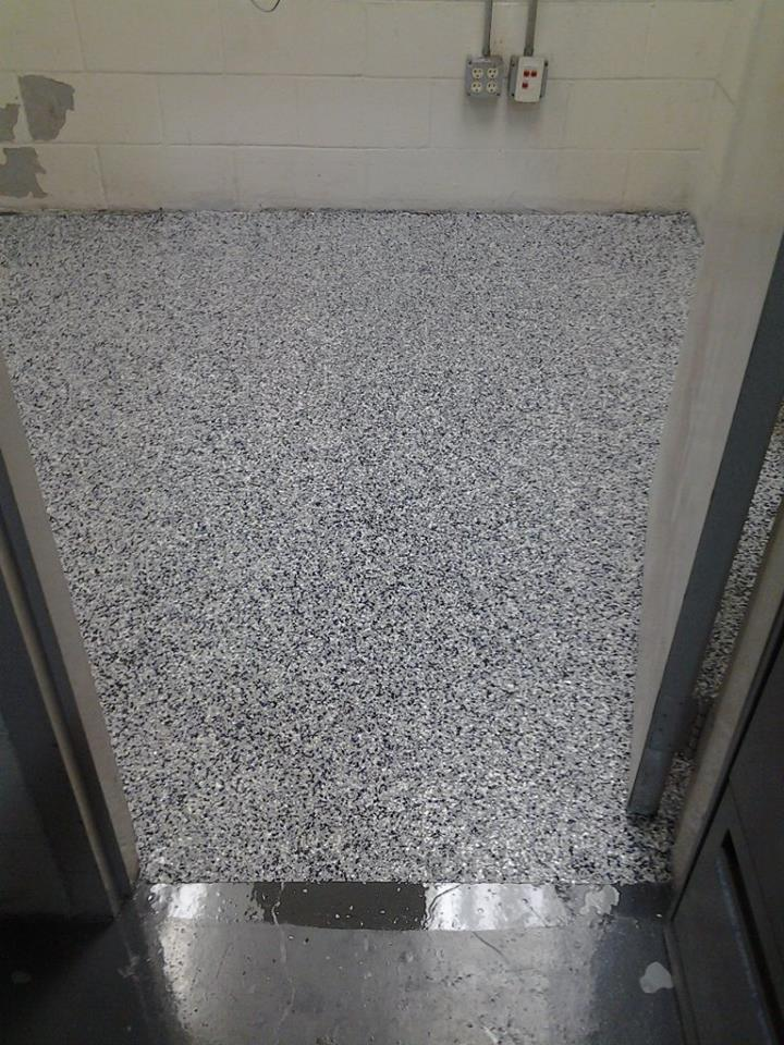 Epoxy coated flooring