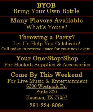 Hookah Supplies - Houston, TX - Kaif Café