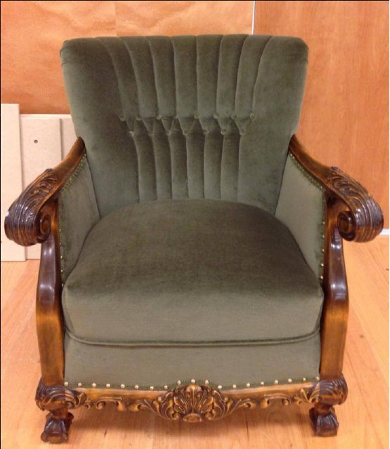 After upholstery process
