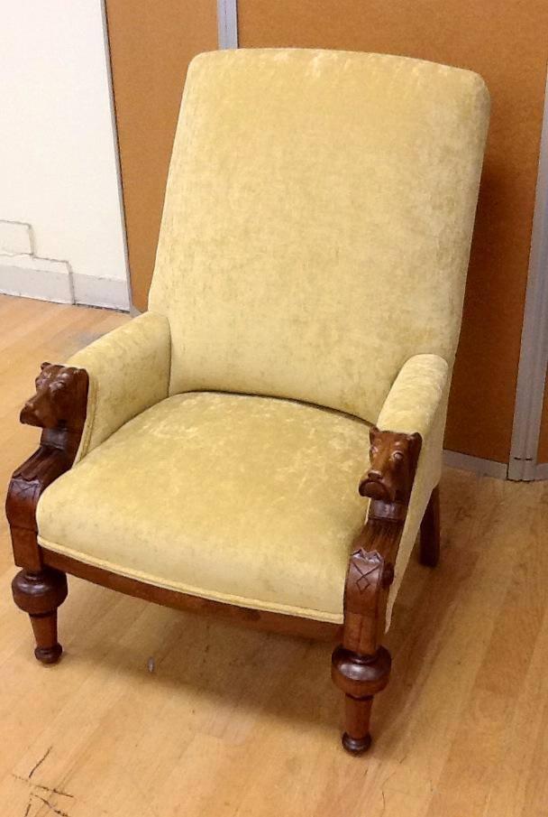 Antique dog arm rest chair