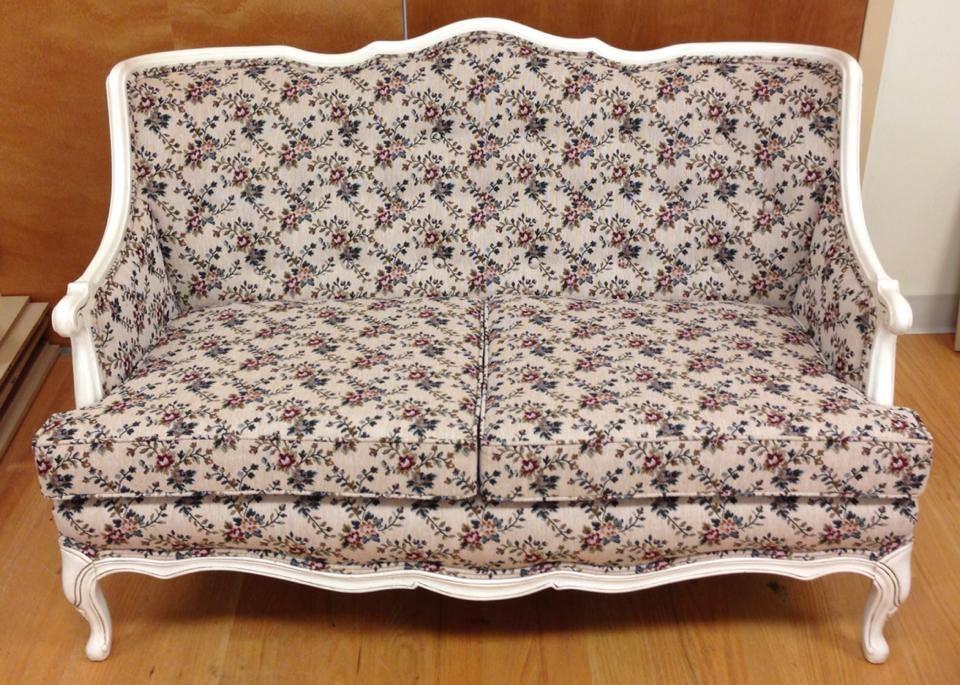 Antique floral couch
