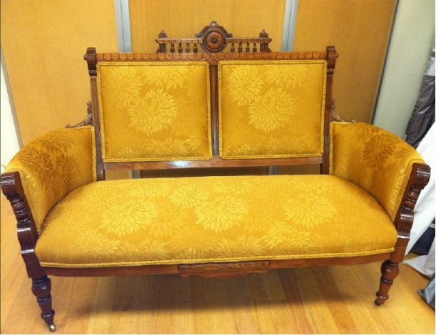 Antique gold couch