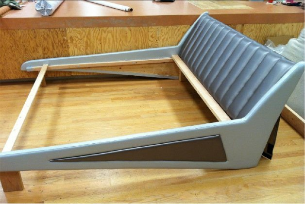 Custom headboard with frame