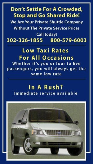 New Castle Shuttle and Taxi - Private Rides - New Castle, DE