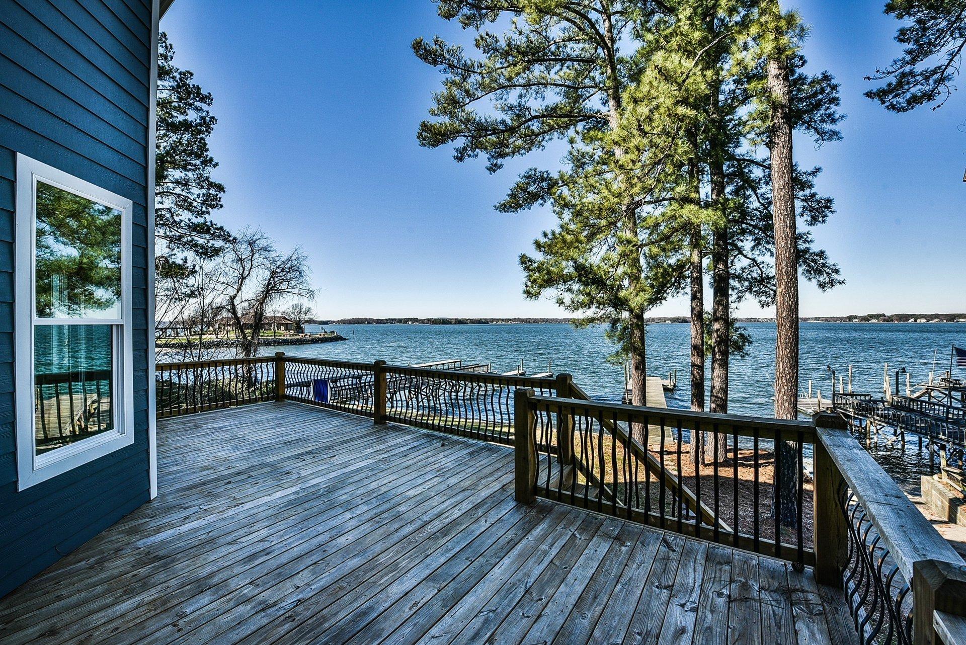 Home on lake