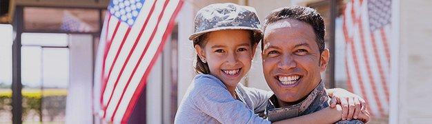 Veteran with his kid