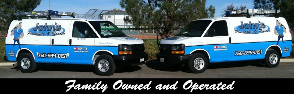 John's Plumbing & Rooter business vehicles