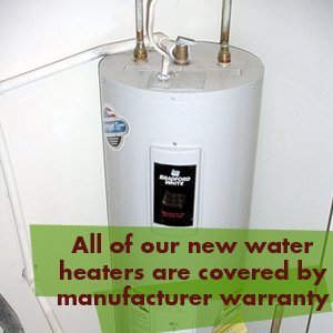 Water Heater - Whidbey Island, WA - Harbor Plumbing - All of our new water heaters are covered by manufacturer warranty