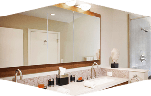 Glass Shower Surrounding | South Boston, MA | Boston Mirror Corp | 617-268-5880
