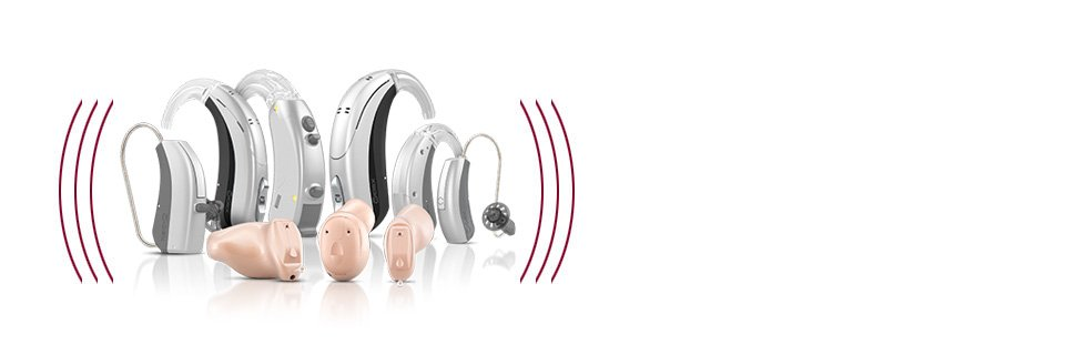 Maroon Color Hearing Aid