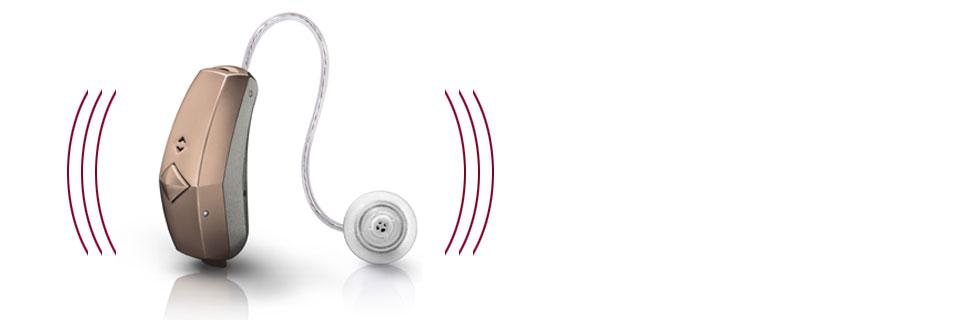 Maroon Color Hearing Aid