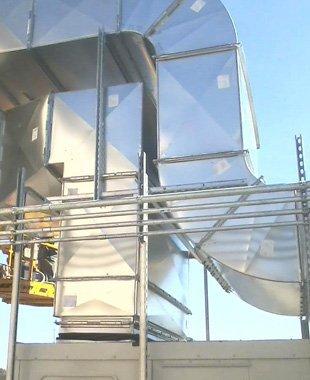Custom duct work installation