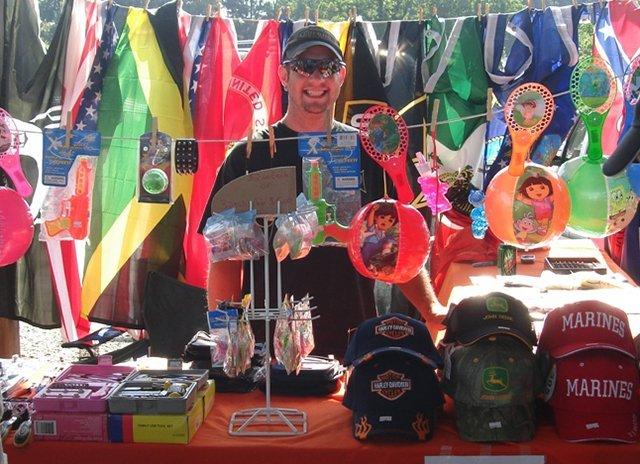 Flea market merchandise