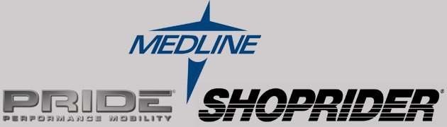 shoprider, pride mobility, medline