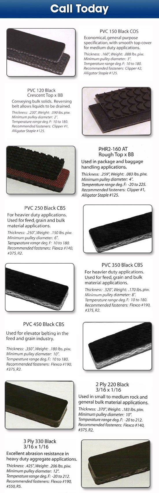 Lubbock, TX Material Handling-Deeco Hose & Belting-Conveying belts.
