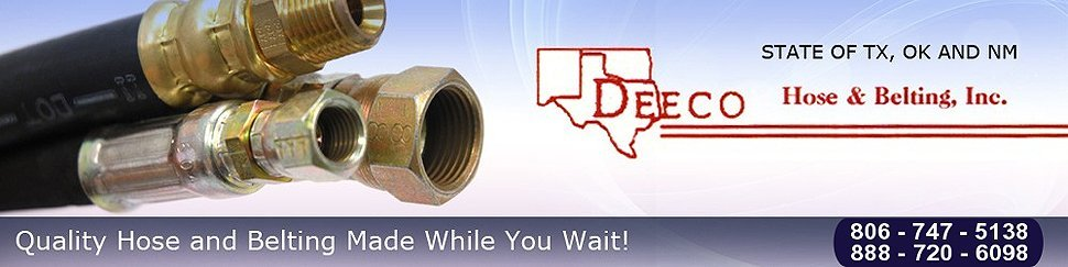 Hoses & Belts - Deeco Hose & Belting - Lubbock, TX