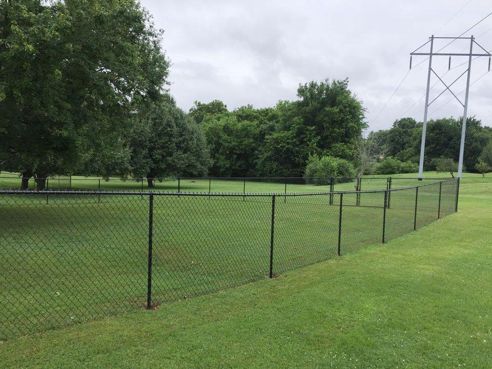 Chain link farm fencing