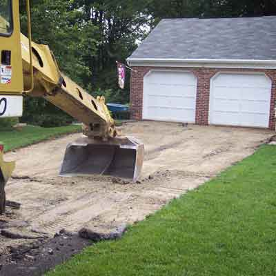 Removing driveways