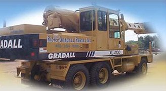 Rick's Gradall Rental truck
