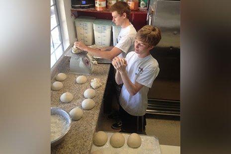 Customer Making Pizza
