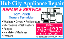 Hub City Appliance Repair - Lubbock, TX