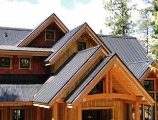 Modern metal roof
