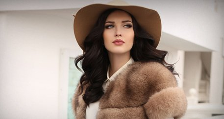 Woman wearing fur clothing