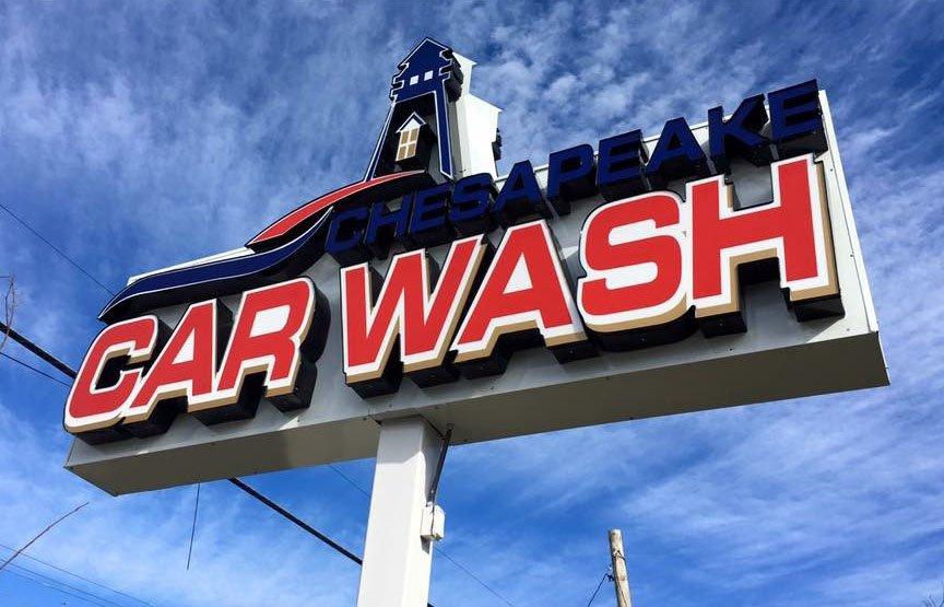 Chesapeake Car Wash Shop Sign