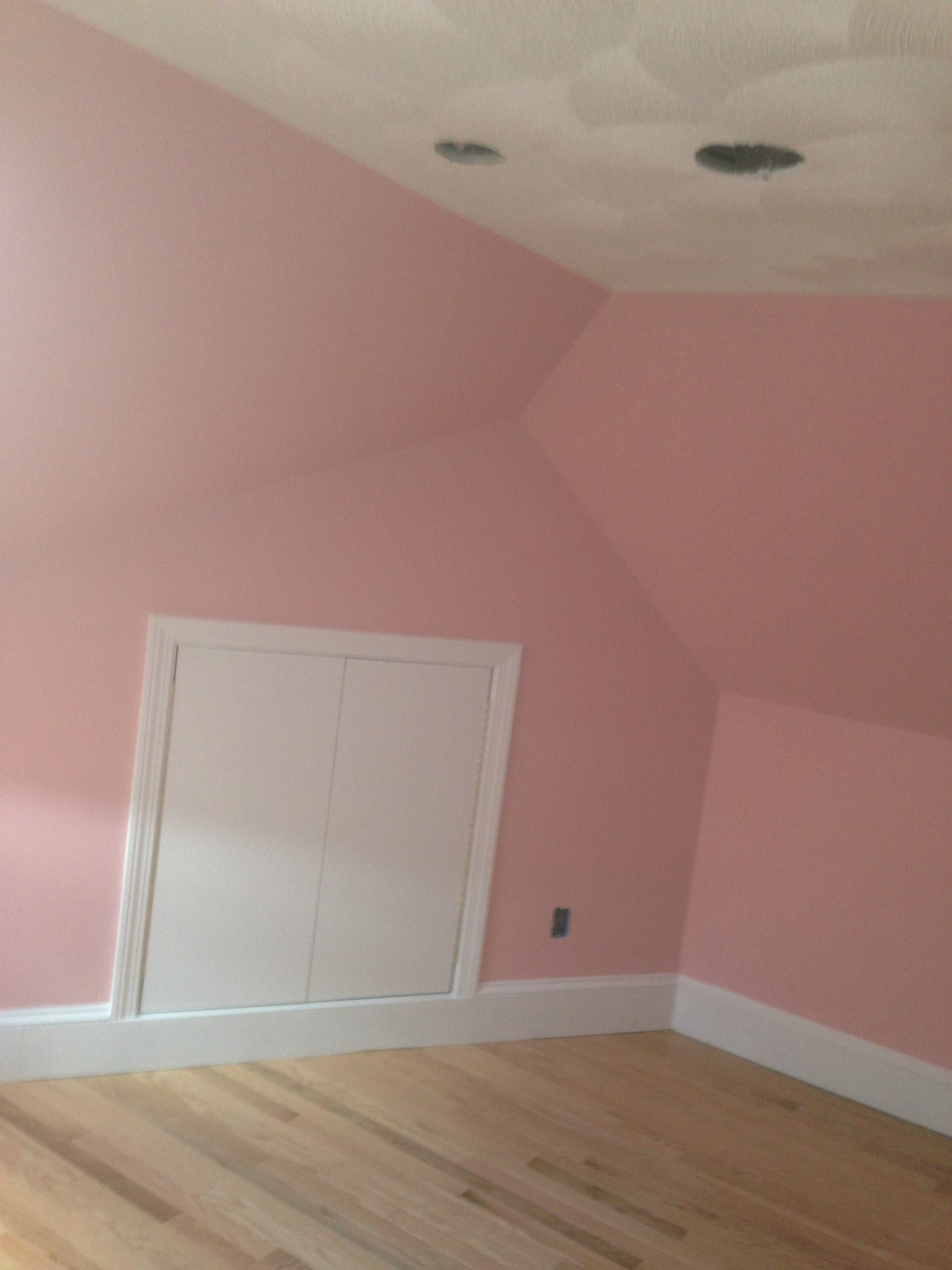 house interior with pink wall