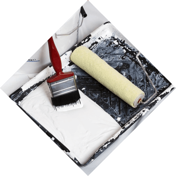 paint brush and roller paint
