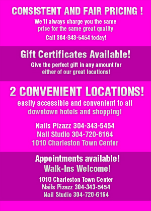 Nail Salon Manicure/Pedicure Services - Charleston, WV - Nails Pizazz