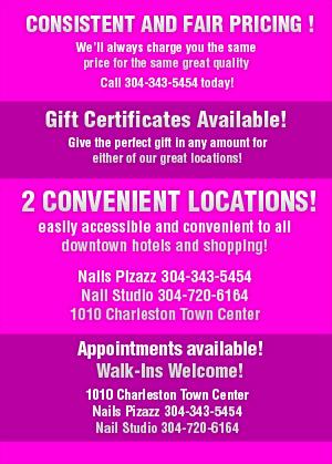 Full Salon Services - Charleston, WV - Nails Pizazz
