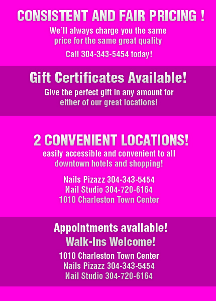 Nail Salon - Charleston, WV - Nails Pizazz