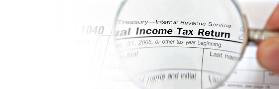 Magnified income tax return form