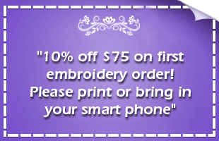 Custom Embroidery Coupons Vista, CA