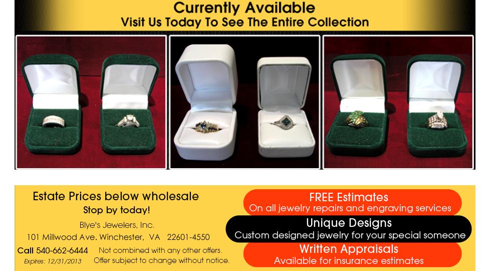 Estate Jewelry - Winchester, VA - Blye's Jewelers
