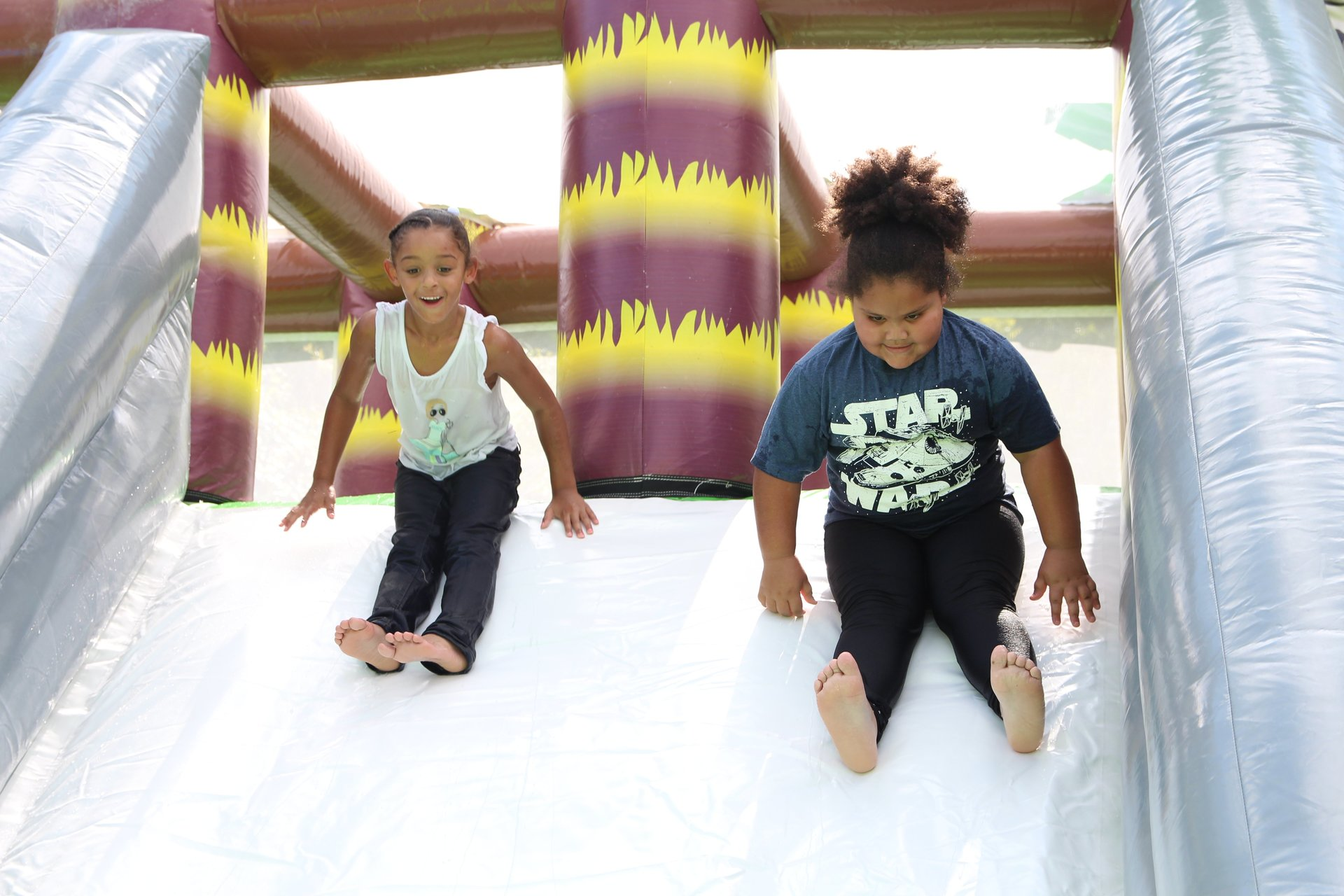 Dino Inflatable Slide