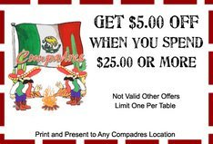 Compadres Coupon - Ashtabula OH