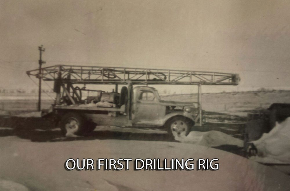 Our first drilling rig