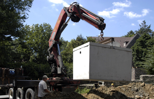 Installing a septic tank