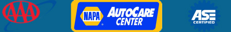 AAA, NAPA Auto Care Center and Automotive Service Excellence logos