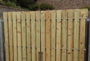 Wood Door Fence
