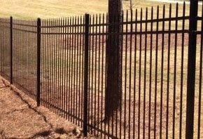 Wide  steel fence