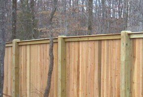 Wide wooden Fence
