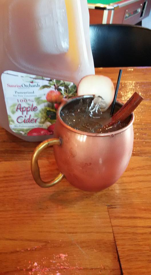 Apple cider mule