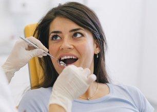 Woman on a dental clinic