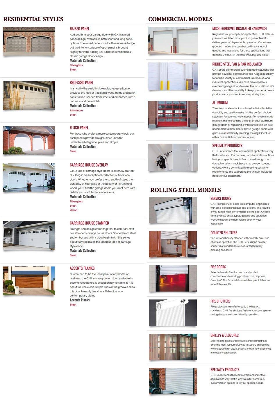 C.H.I Overhead Doors| Eau Claire, WI | Eau Claire Door Co | 715-834-1134